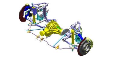 Модернизированная подвеска на автомобиле Lada 4x4